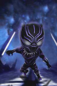 360x640 Chibi Black Panther 4k