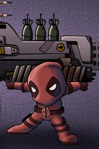 2160x3840 Chibi Cable And Deadpool