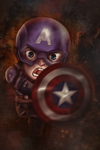 800x1280 Chibi Captain America