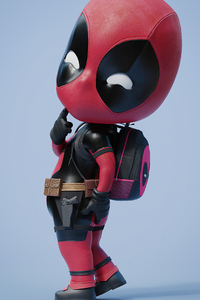Chibi Deadpool 4k 2020