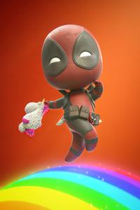 2160x3840 Chibi Deadpool Art