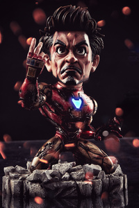 480x854 Chibi I Am Iron Man 4k