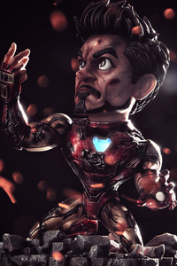 480x854 Chibi I Am Iron Man