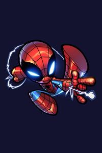 Chibi Spiderman Artwork