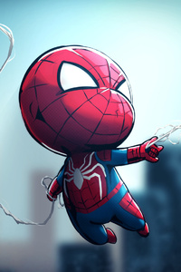 720x1280 Chibi Spiderman