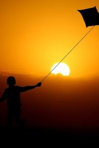 Children Flying Dragon Kite 4k