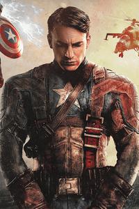 1125x2436 Chris Evans As Captain America