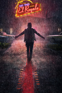 1080x1920 Chris Hemsworth In Bad Times At The El Royale Movie