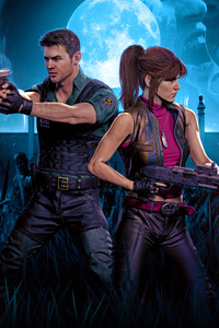 480x854 Chrisredfield And Claireredfield Resident Evil 4k
