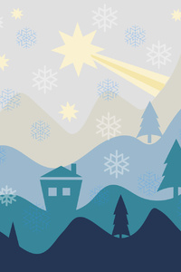 240x400 Christmas Flat Design Background