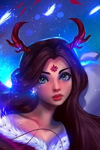 Christmas Girl With Snow Olaf