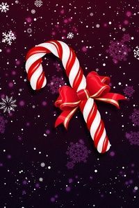1125x2436 Christmas Lollipop Bowknot