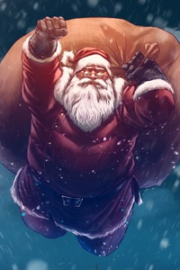 360x640 Christmas Santa Digital Art
