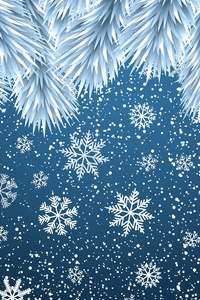 750x1334 Christmas Snowflakes Background 8k