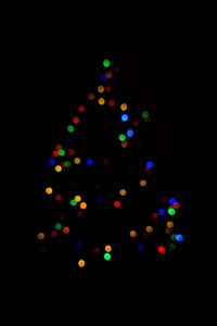 480x854 Christmas Tree Minimalism Dark 4k