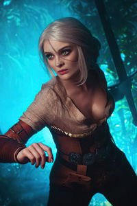 1080x2160 Ciri From The Witcher 3 Cosplay 4k