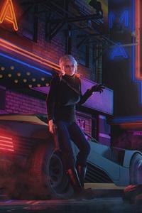 750x1334 Ciri In Cyberpunk Life 5k