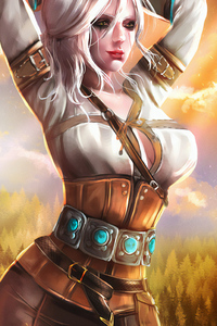 320x480 Ciri Sketch Paint Art