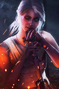 540x960 Ciri The Blood Is Red 8k