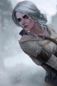 1440x2560 Ciri The Witcher 3 Digital Art 4k