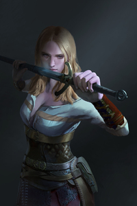 240x400 Ciri The Witcher 3 Fantasy