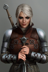 Ciri The Witcher 3 Game Art