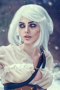 480x854 Ciri The Witcher 3 Wild Hunt Cosplay 4k