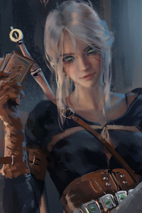 1242x2688 Ciri Witcher 3 Fanart
