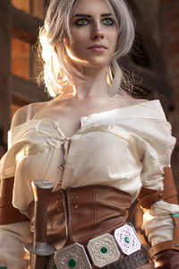 Ciri Witcher 3 Girl Cosplay 4k