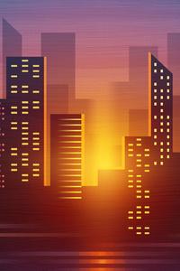 City Buildings Vector Minimalist