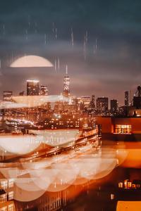 1242x2688 City Evening Buildings Bokeh 4k