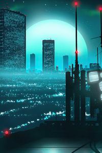 City Evening Corner Synthwave