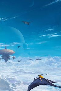 City In Clouds 4k