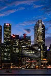 City Lights Buildings 4k