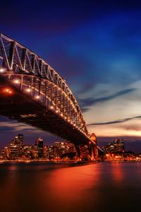 2160x3840 City Lights Sydney Harbour Bridge 4k
