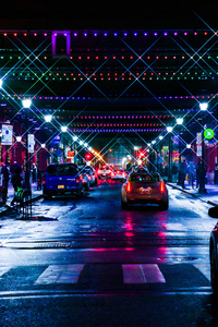 City Neon Lights Cityscape 5k