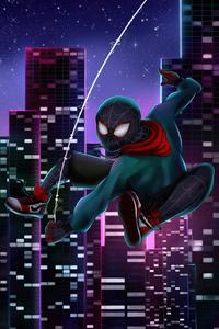 480x800 City Of Spiders Miles Morales 4k