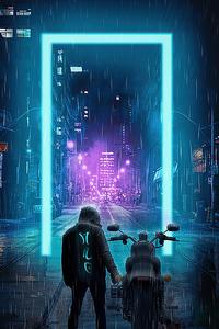 City Streets Cyberpunk Biker