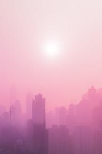 City Sunrise Pink Fog 5k