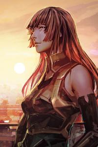 Cityscape Anime Girl Futuristic 4k