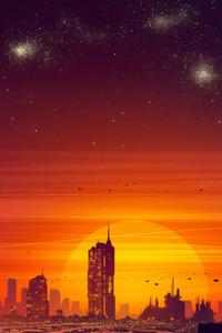 480x800 Cityscape Digital Artwork