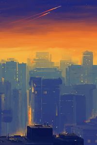 Cityscape Illustration 4k