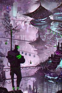 Cityscape Illustration Digital Art 4k