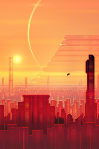 320x480 Cityscape Scifi Digital Art