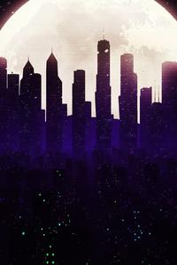 1440x2560 Cityscape Skyline Minimalist Art 4k