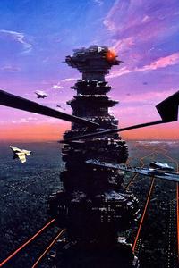 Cityscape Synthwave Cyberpunk Future Fanart