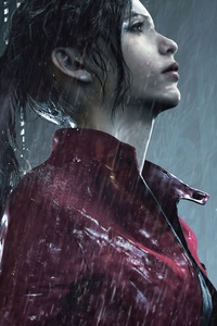 480x854 Claire Redfield Resident Evil 2 8k