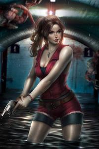 480x854 Claire Redfield Resident Evil 2 FanArt