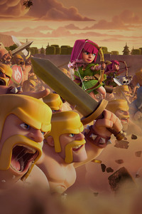 240x400 Clash Of Clans Clan Wars