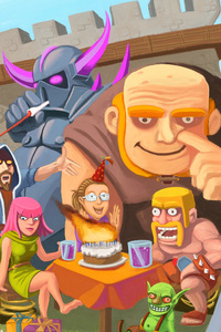 480x800 Clash Of Clans Drawing Art
